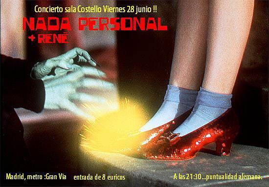 Nada Personal - viernes 28 - Costello Club - Madrid -