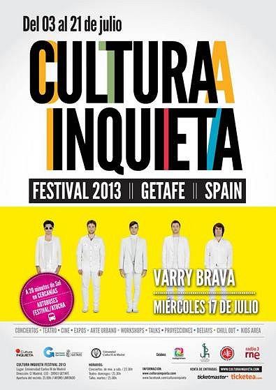 Varry Brava en el festival Cultura Inquieta de Getafe